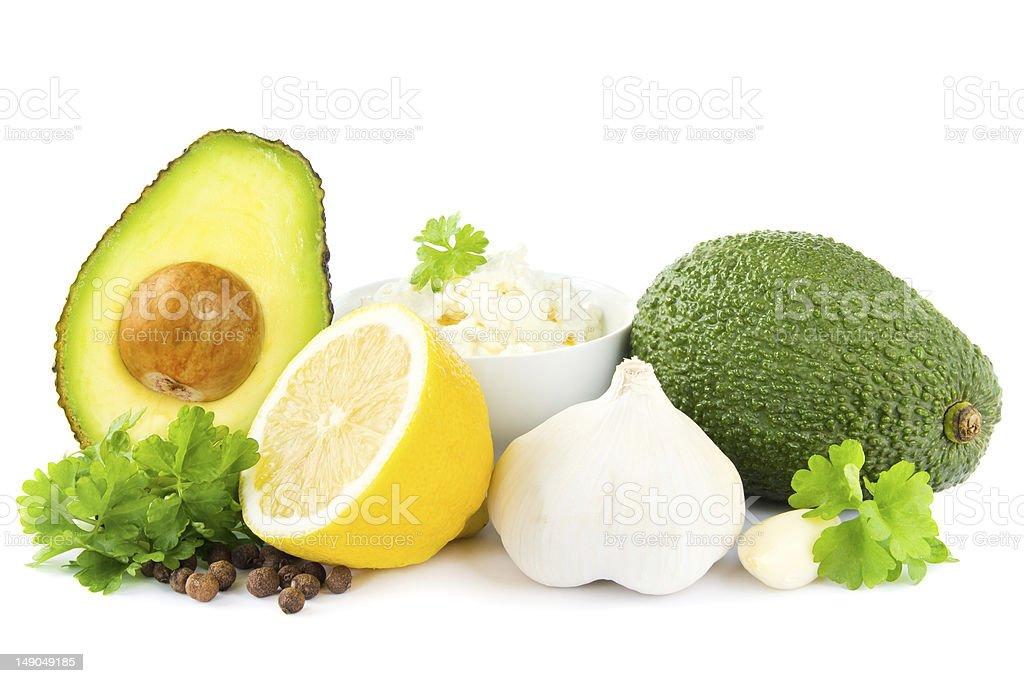 Guacamole ingredientes - foto de acervo