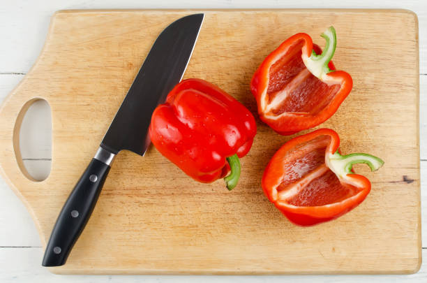 切板全切甜椒 - 紅燈籠椒 個照片及圖片檔