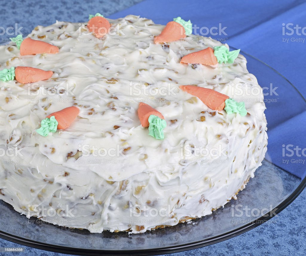 Whole Carrot Cake stock photo