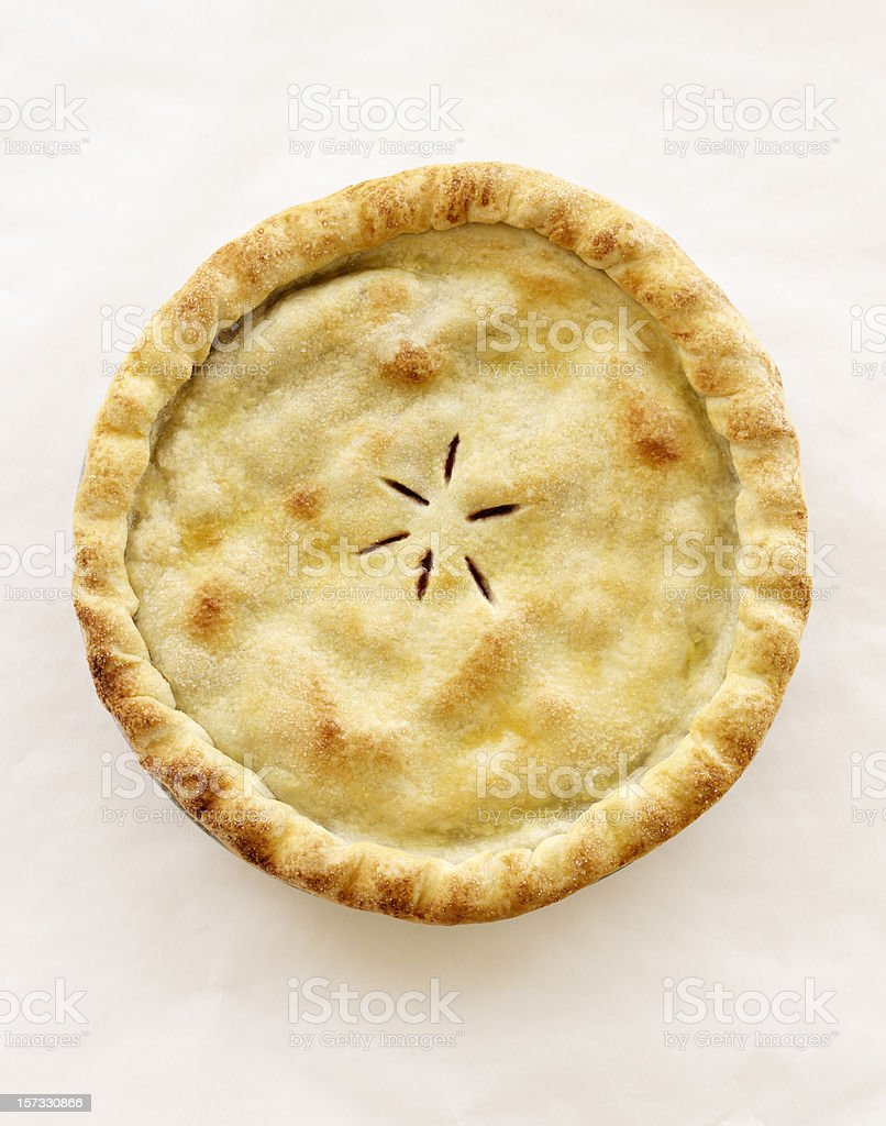 Whole Cherry Pie royalty-free stock photo