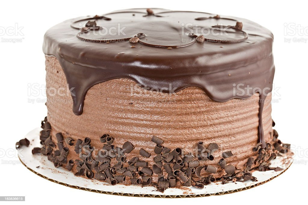 Whole Chocolate Cake stock photo