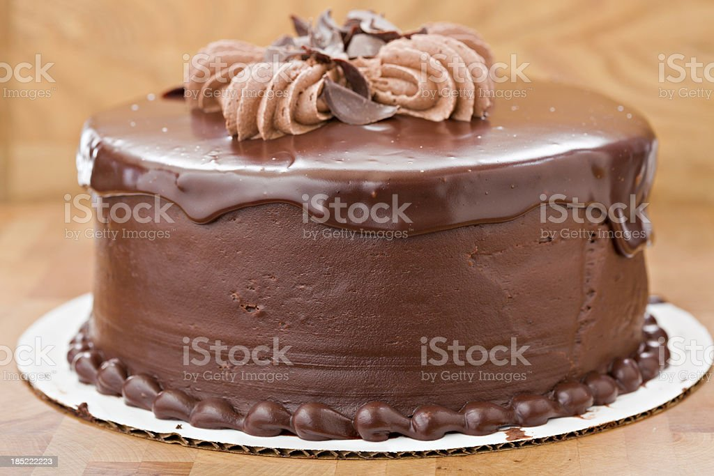 Whole Chocolate Fudge Cake stock photo