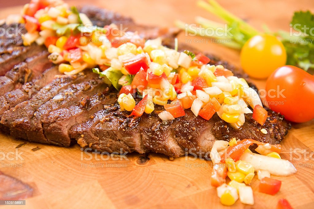 Whole Flank Steak royalty-free stock photo