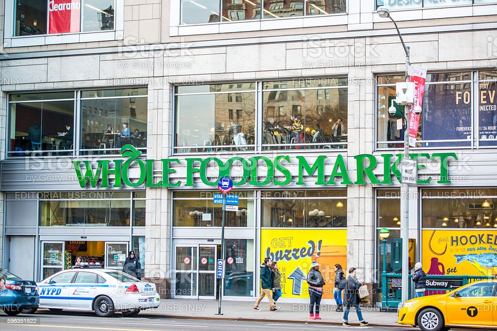 Whole Foods Market, New York, USA royalty-free stock photo