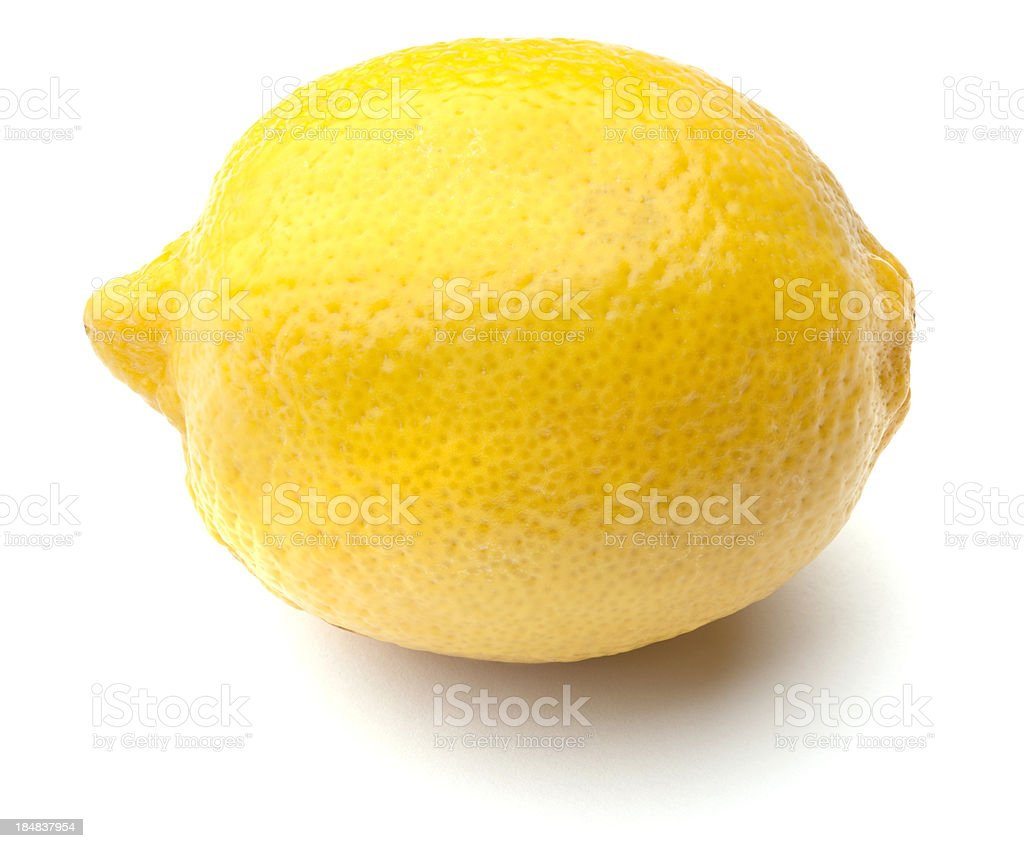 Whole Fresh Lemon Isolated on White Background stock photo