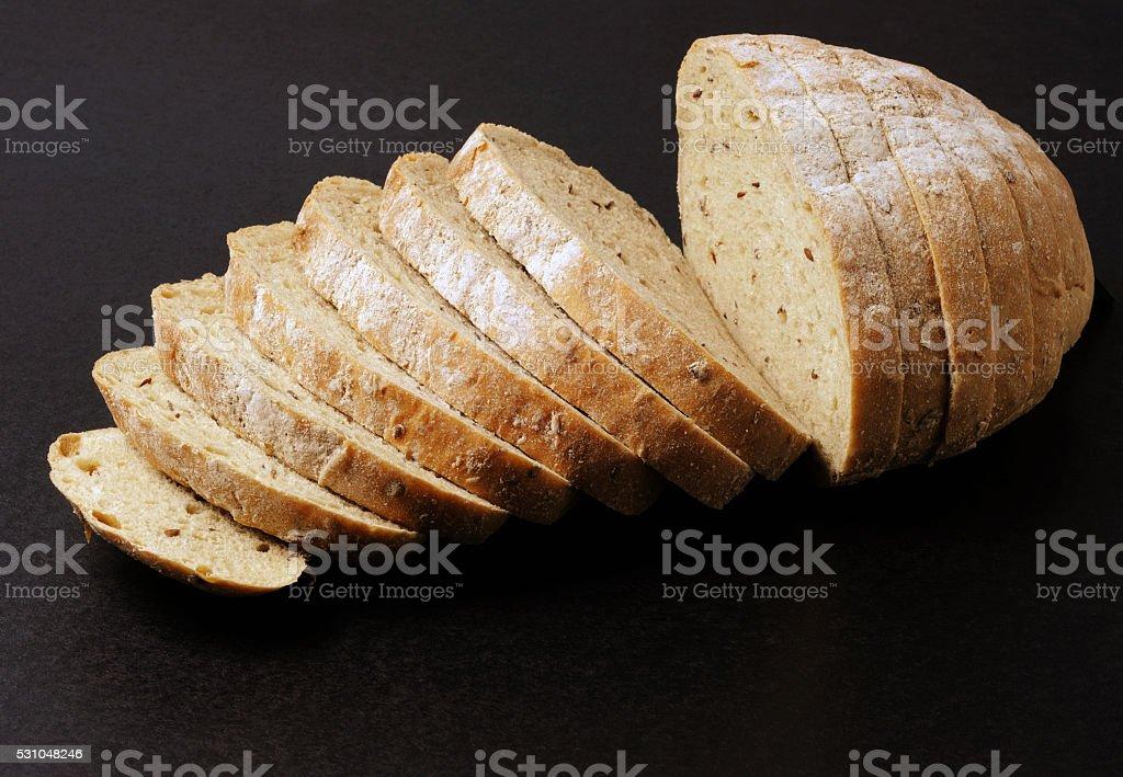 Whole grain bread stock photo