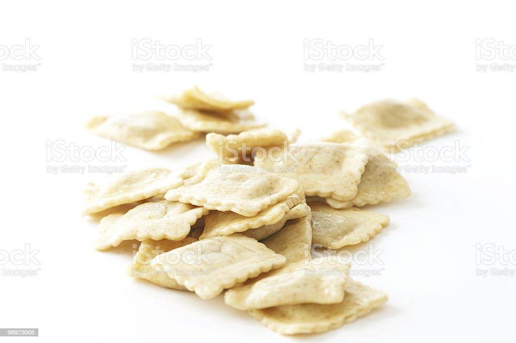 Whole Grain Ravioli Pasta royalty-free stock photo