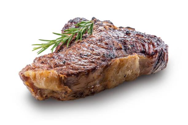 Whole grilled T-bone steak with rosemary - fotografia de stock