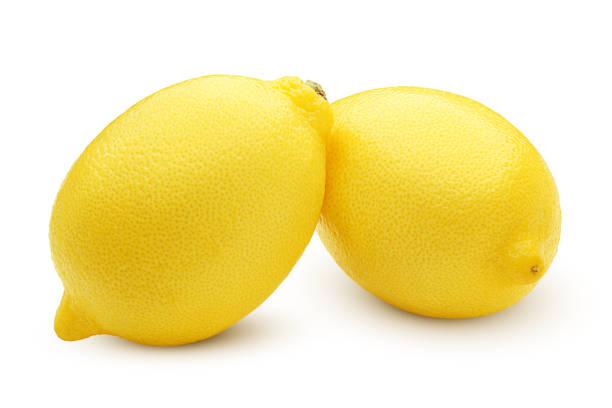 全体レモン ホワイト バック グラウンド、クリッピング パス、フィールドの完全な深さを免 - レモン ストックフォトと画像