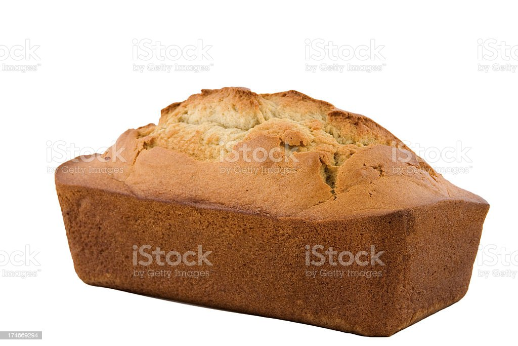 Whole Loaf of Banana Bread Series stock photo