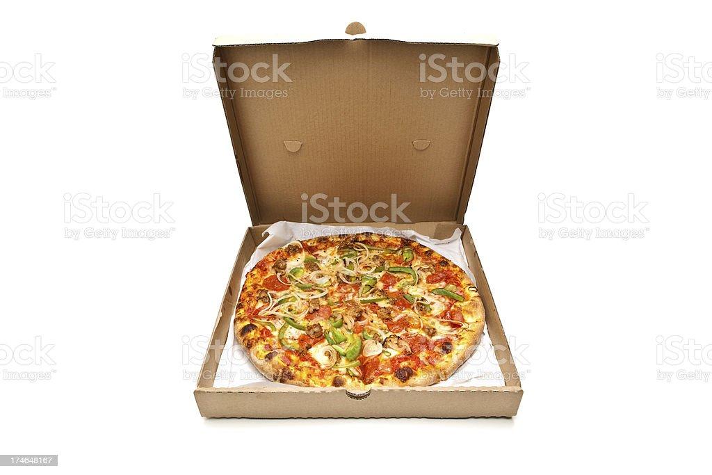 Whole Pizza stock photo