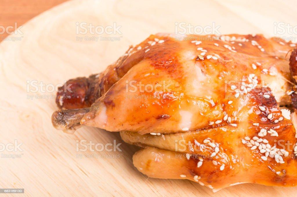 모든 구운된 닭 요리 나무 royalty-free 스톡 사진