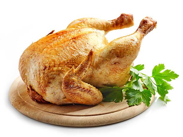 Conjunto de pollo asado - foto de stock