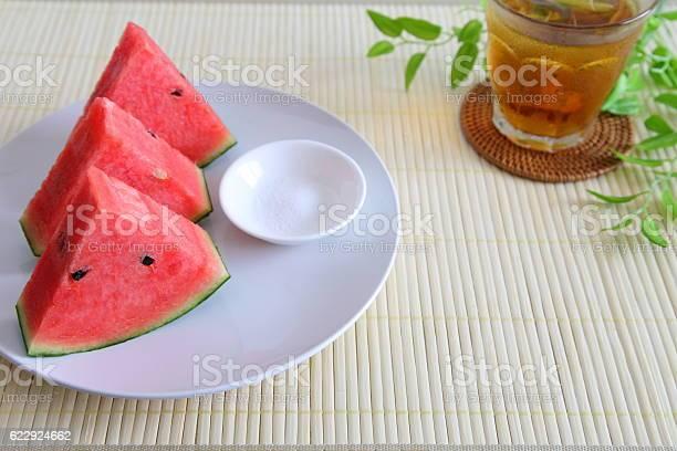 Whole sliced fresh watermelon and iced barley tea picture id622924662?b=1&k=6&m=622924662&s=612x612&h=ftmmk0xxw8oiwb8mdj  bxtp5f6kui3chmesdnltkva=
