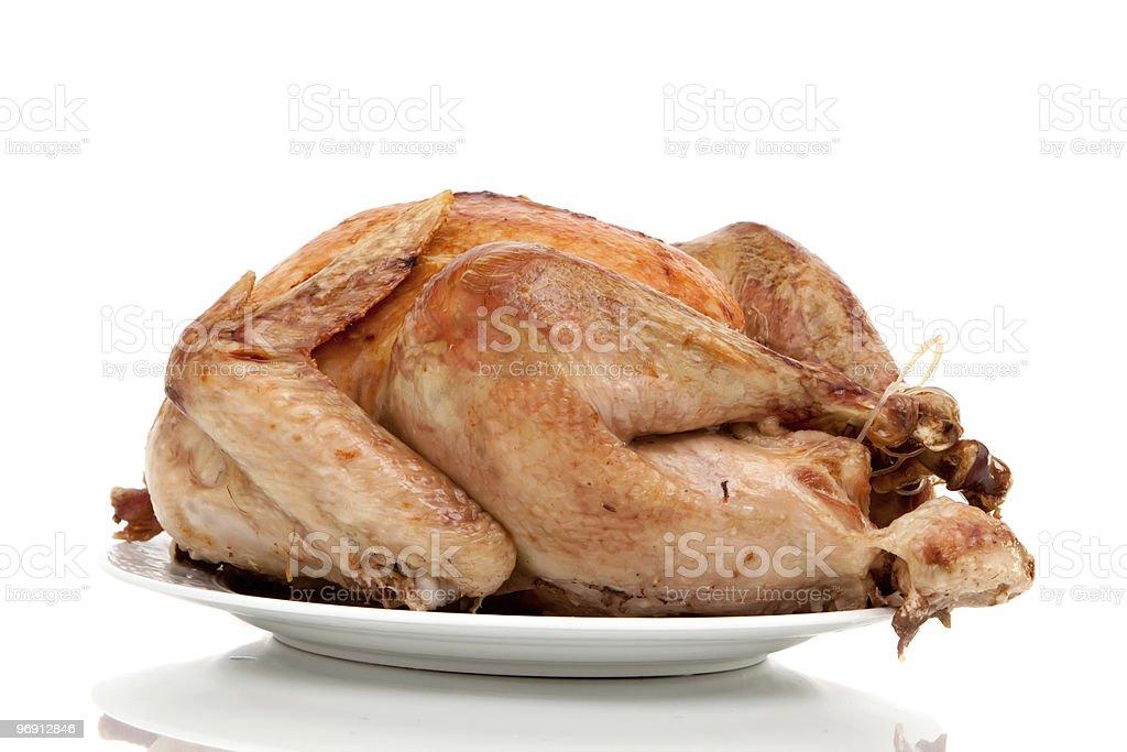 Whole turkey on white background royalty-free stock photo