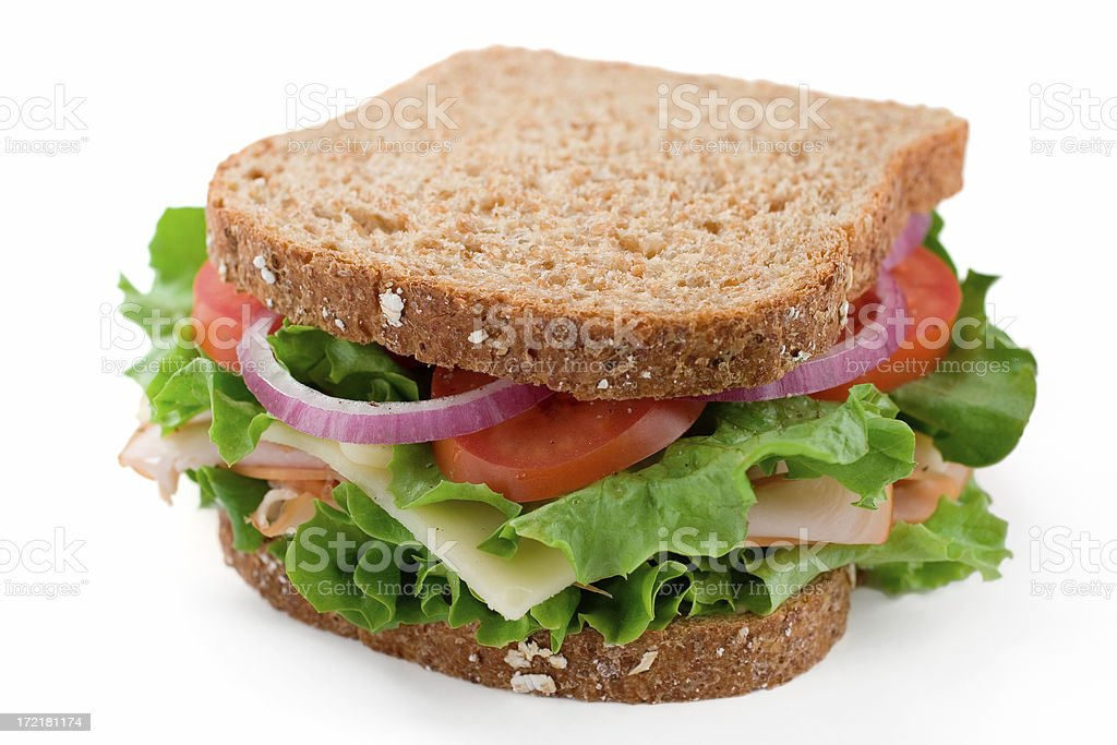 Whole Turkey Sandwich royalty-free stock photo