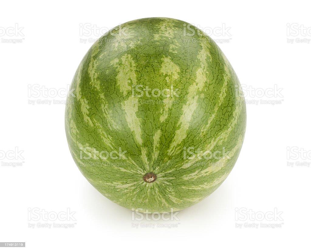 Whole Watermelon Isolated royalty-free stock photo
