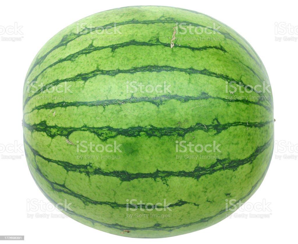 Whole watermelon on white background royalty-free stock photo