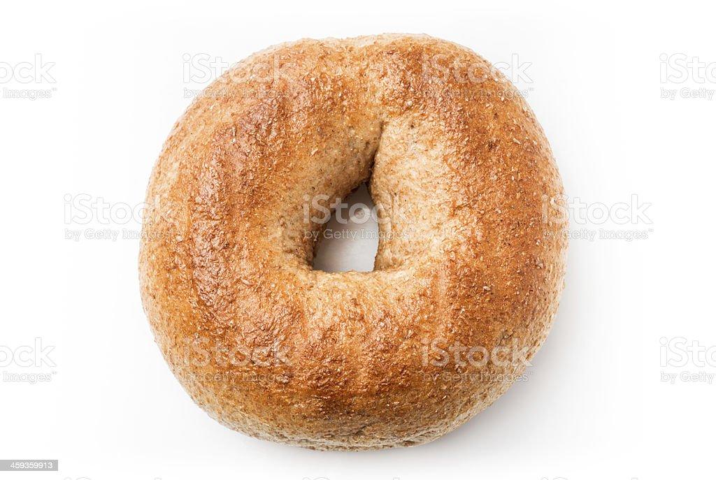 Whole Wheat Bagel stock photo