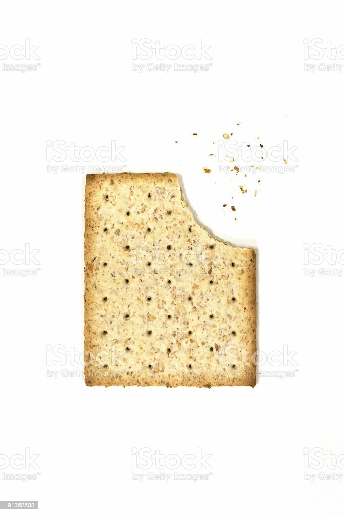 whole wheat biscuit isolated on white stock photo