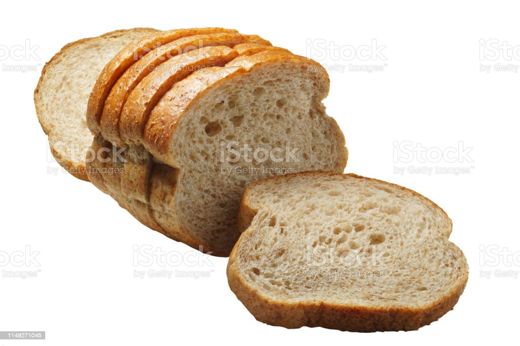 Whole Wheat Bread Isolated On White Background This Image