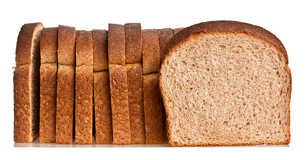 Whole wheat bread Whole wheat bread isolated whole wheat stock pictures, royalty-free photos & images