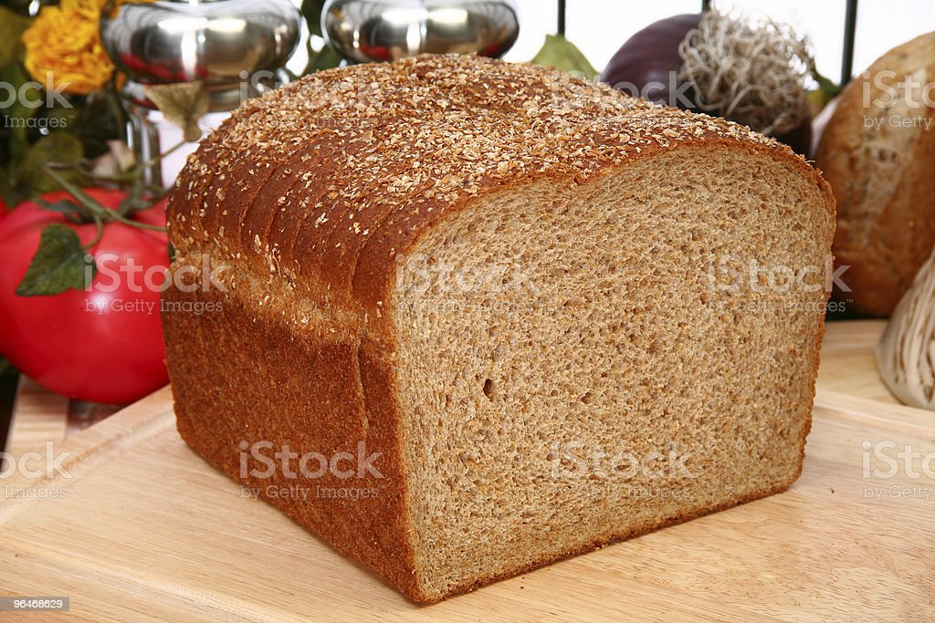 Whole Wheat Bread Sliced royalty-free stock photo