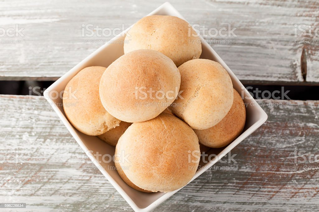 Whole Wheat Dinner Rolls top view foto royalty-free