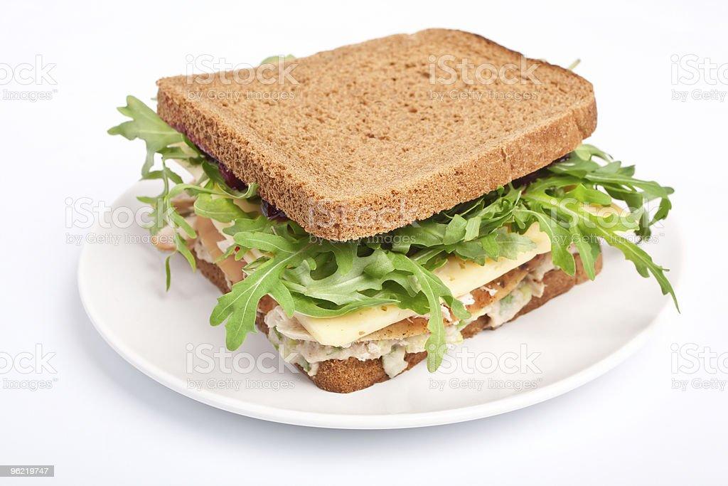 Whole wheat healthy  sandwich royalty-free stock photo