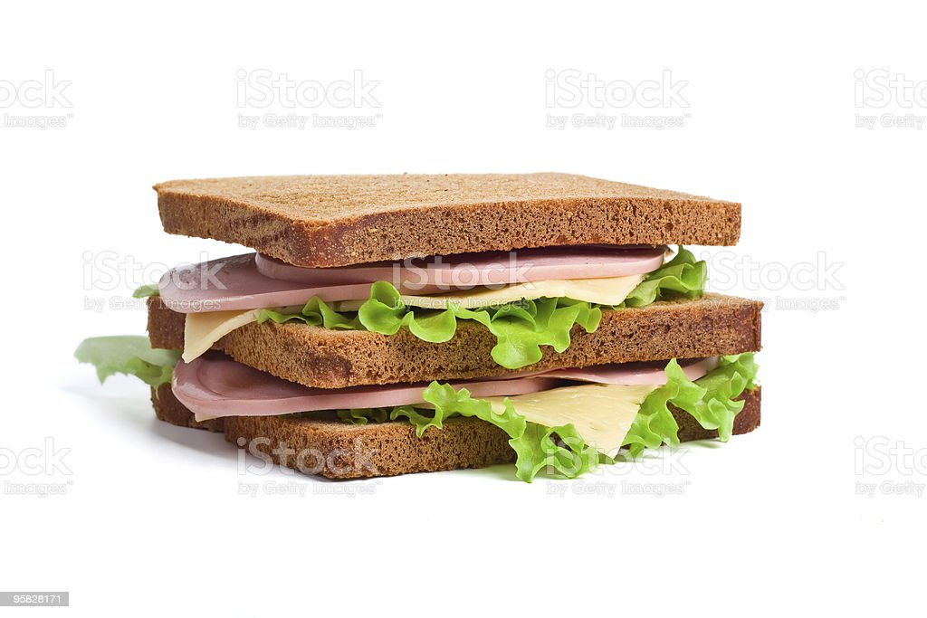 whole wheat sandwiches royalty-free stock photo