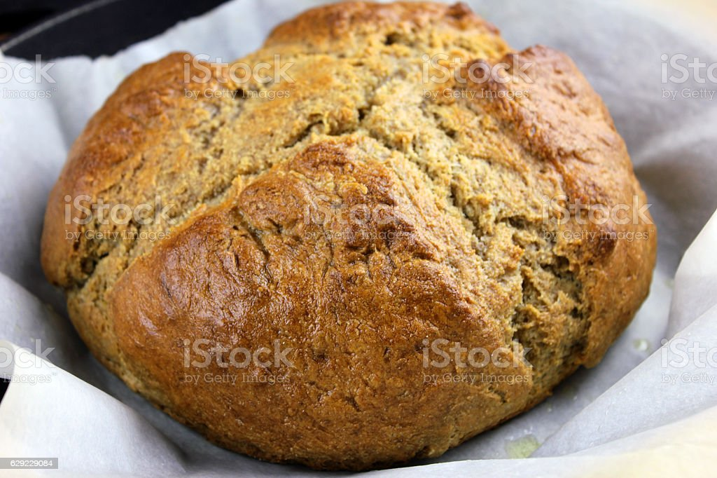 Whole Wheat Soda Bread stock photo
