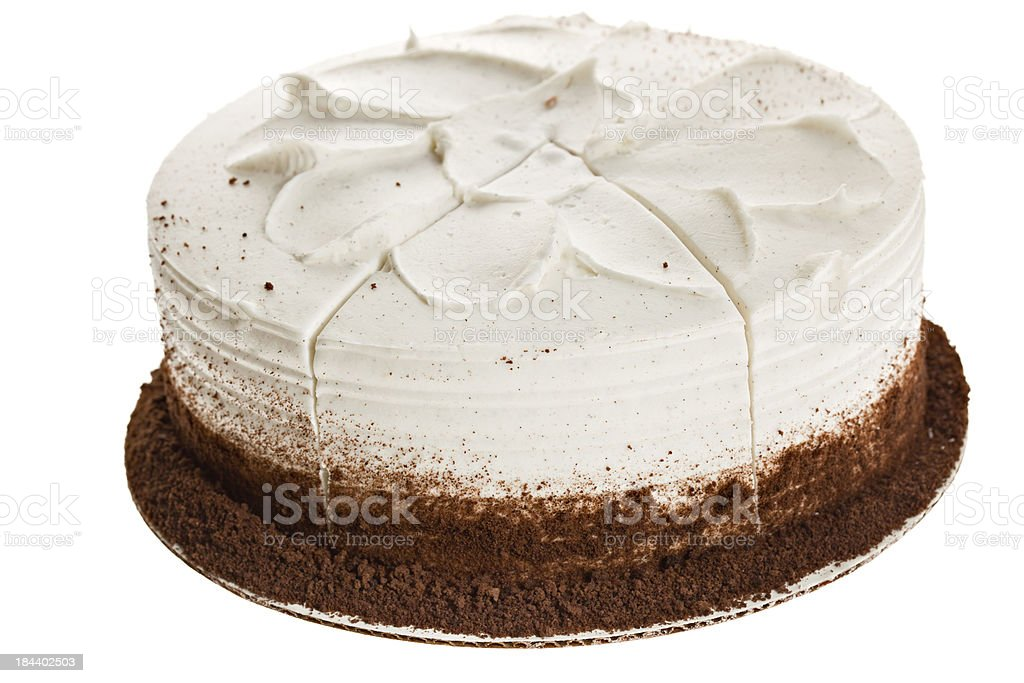 Whole White Cake stock photo