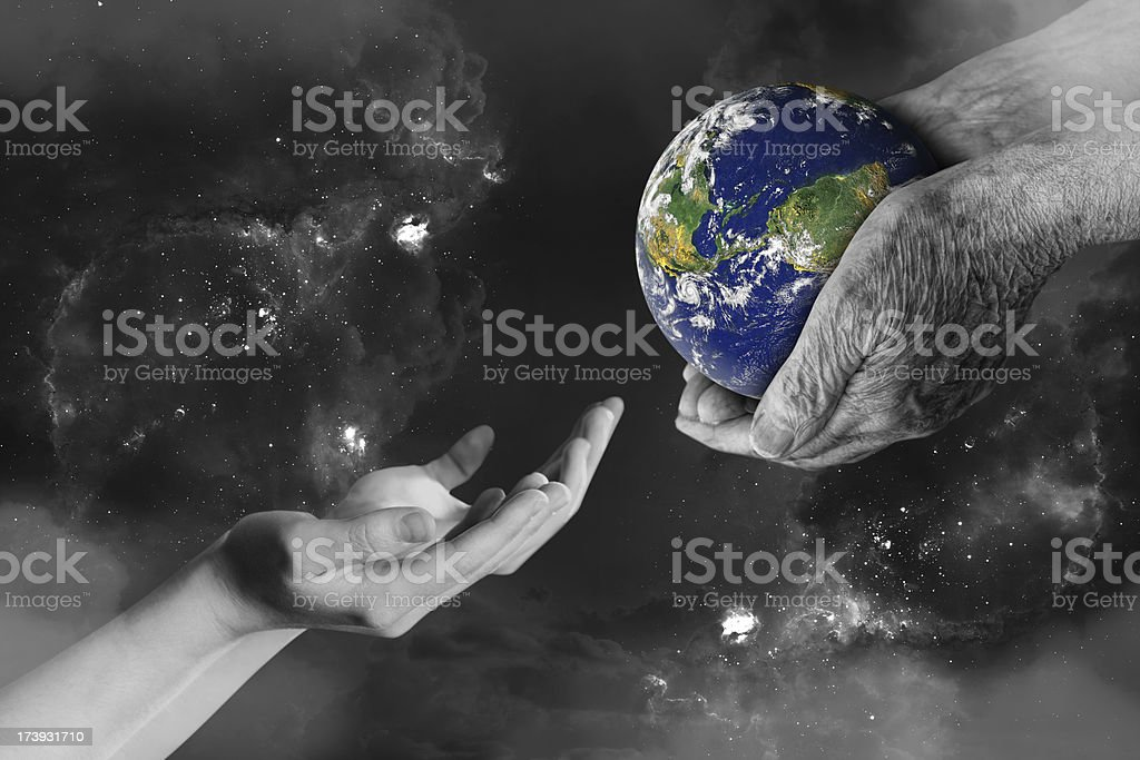 Whole World in His Hands stock photo