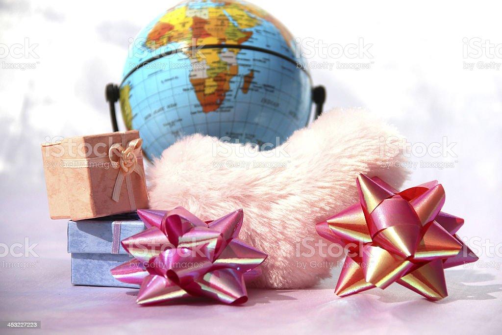 Whole world preparing for Christmas stock photo