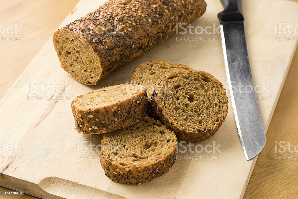 Wholegrain baguette royalty-free stock photo