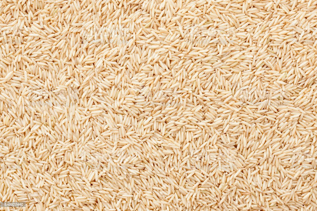 Wholegrain basmati rice background stock photo