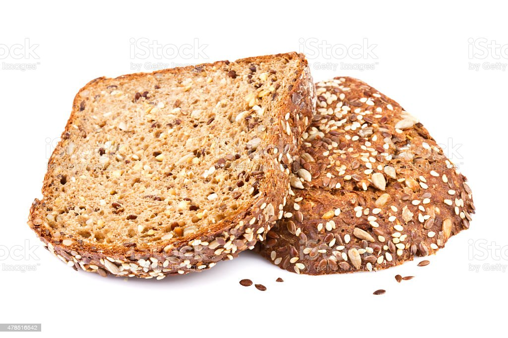 Wholegrain Bread  Portion Slice stock photo