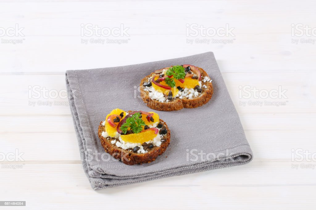 Wholegrain bread with cheese royalty-free stock photo