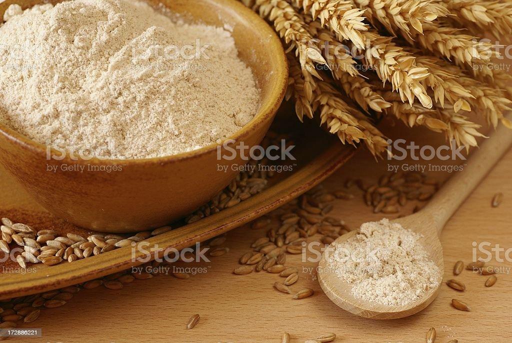 Wholegrain flour royalty-free stock photo
