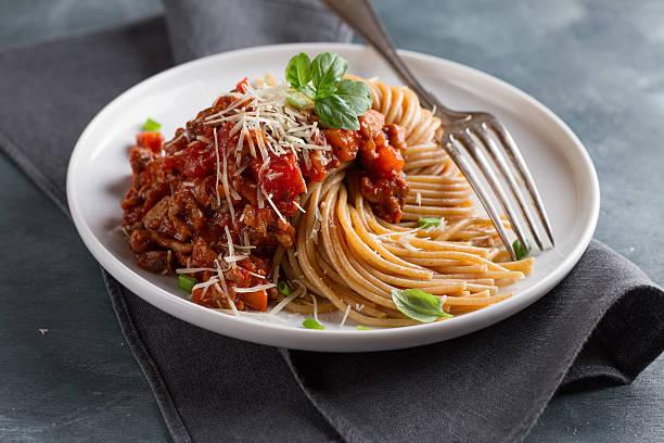 Wholegrain pasta spaghetti stock photo