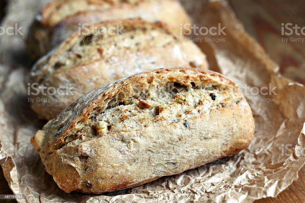 Wholegrain rolls stock photo