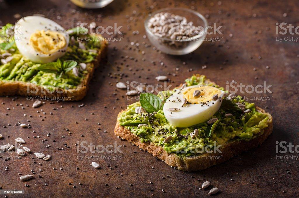 Wholegrain sandwich healthy stock photo