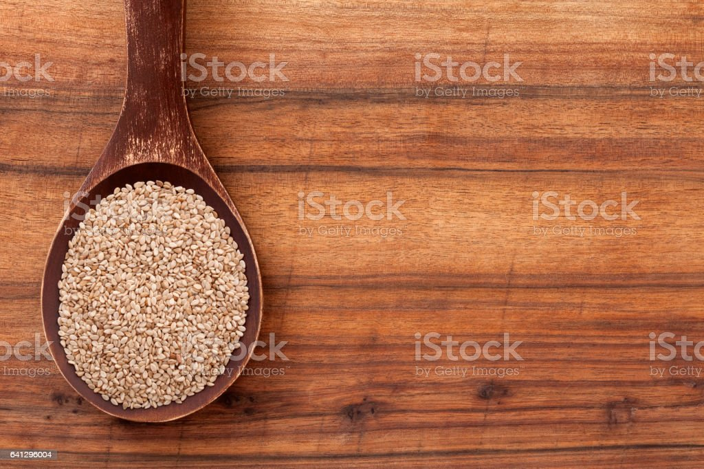 Wholegrain sesame seeds stock photo