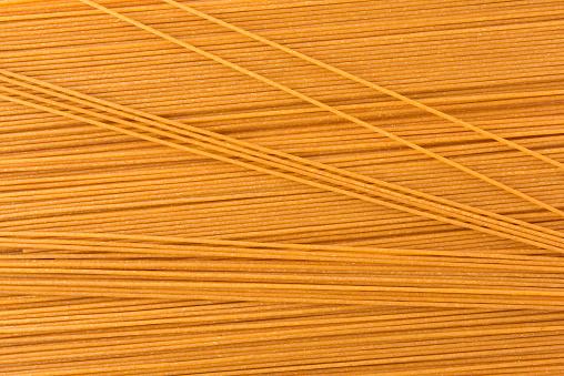 Wholegrain Spaghetti Background Stock Photo - Download Image Now