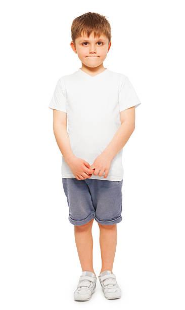 Whole-length portrait of little boy stock photo