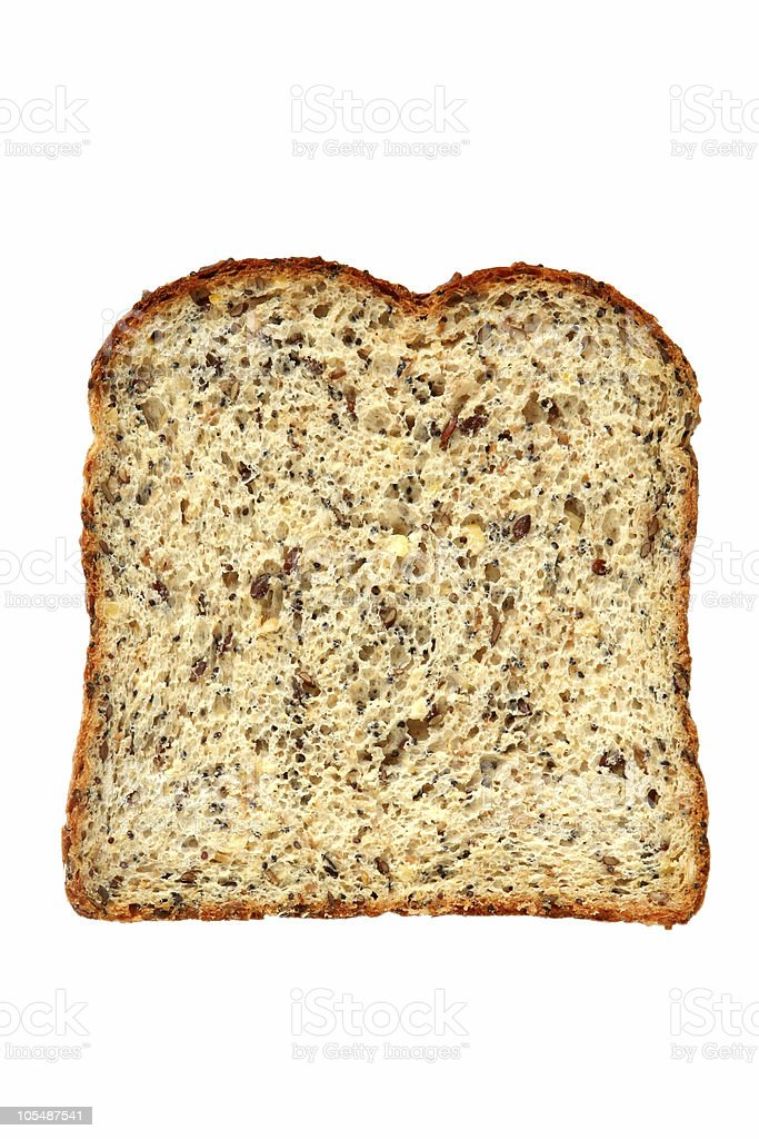 Wholemeal and Seed Bread Slice royalty-free stock photo