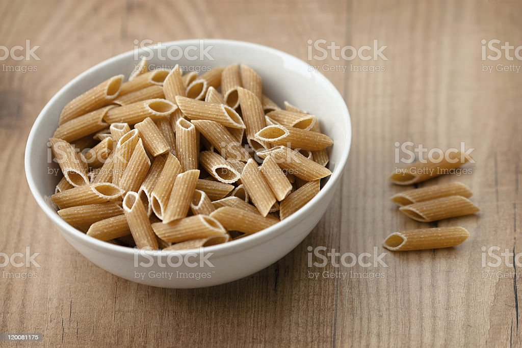 Wholemeal Pasta royalty-free stock photo