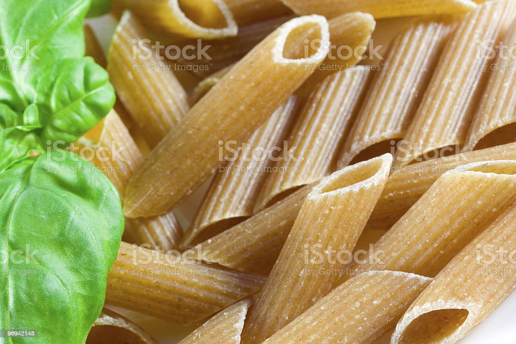 wholemeal pasta royalty-free stock photo