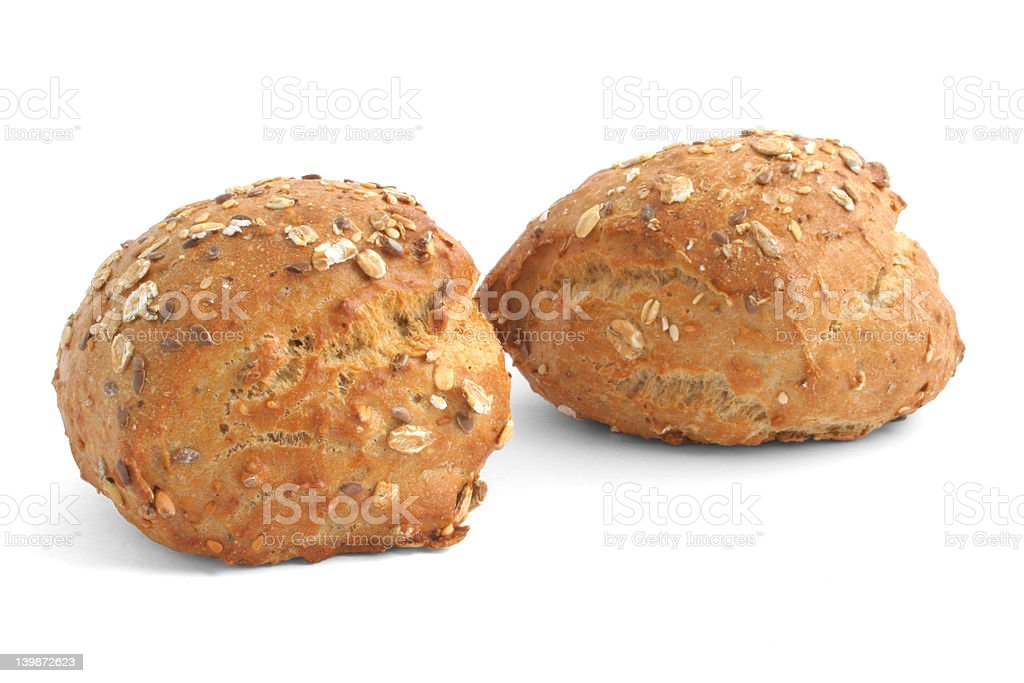 wholemeal rolls royalty-free stock photo