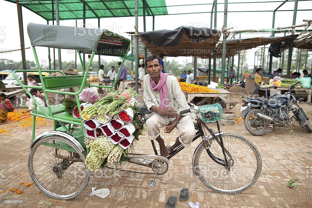 Wholesale flower market, New Delhi royalty-free stock photo